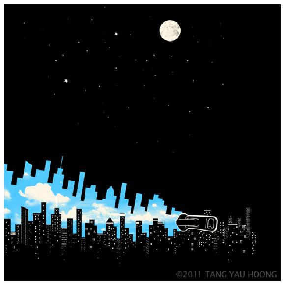 Skyline - Ilustración de Tang Yau Hoong.
