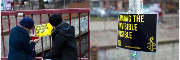 Códigos QR de la campaña de Amnistía Internacional - Haciendo visible lo invisible