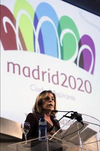 Durante la presentación del logotipo para la nueva candidatura Madrid 2020