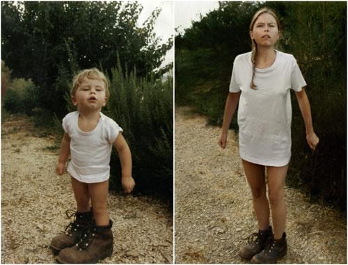 "Proyecto fotográfico ""Back to the Future"", de Irina Werning - Fotografía: Cecile, 1987 - 2010 (Francia)"