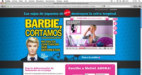 Barbie y Ken, protagonistas de la campaña publicitaria de GREENPEACE contra la deforestación