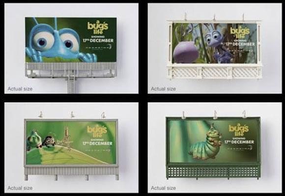Mini-vallas Bug's Life en Vietnam - Campaña de Street Marketing