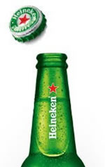 Botellín y chapa de Heineken
