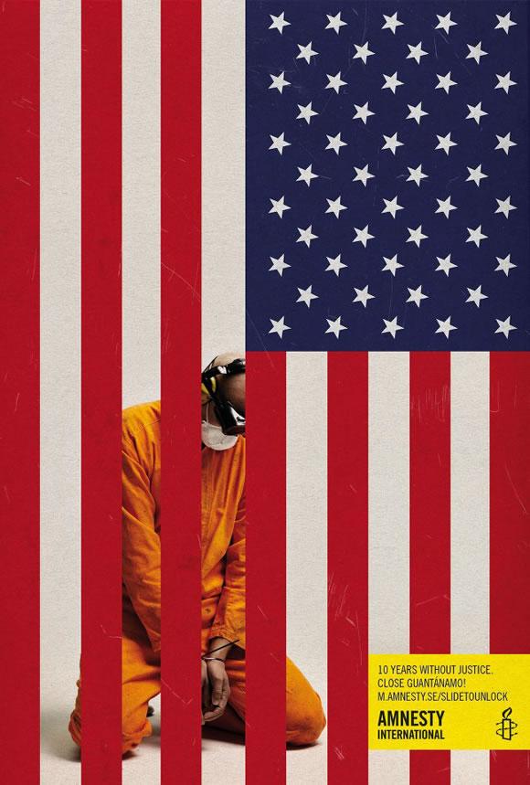 Campañaa de Amnistía Internacional contra los 10 años de Guantánamo