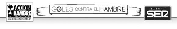 """Campaña benéfica """"goles contra el hambre"""" de Cadena SER"""