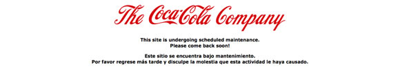 """Error en la página web de """"Comparte Coca-Cola con"""""""