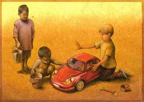 Ilustración de Pawel Kuczynski - Roles de la Clase social