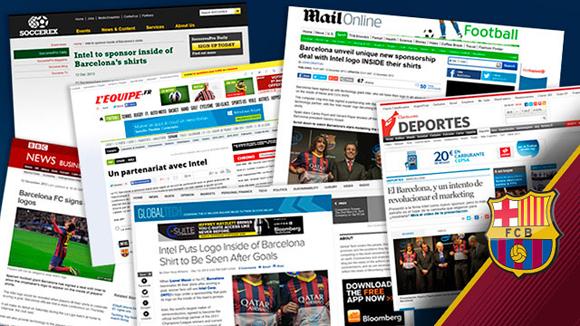 Patrocinio Intel y F.C.Barcelona - Repercusión en medios - Publicity