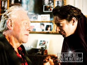 Jean-Dominique Bauby en La escafandra y la mariposa