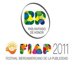 Logo FIAP 2011 - Brasil invitado de honor al Festival de Publicidad Iberoamericano