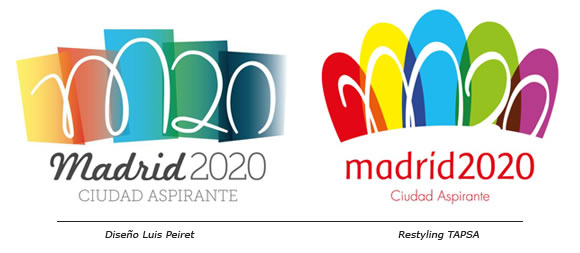 Madrid 2020: Autor, diseño y polémico restyling de un logotipo - Luis Peiret vs. TAPSA