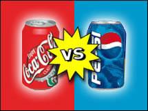 Enfrentamiento publicitario entre marcas rivales. Coca-cola vs Pepsi.