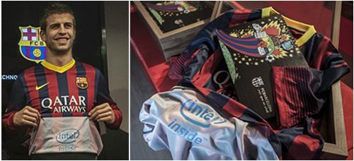 Patrocinio de publicidad entre Intel y F.C. Barcelona - Gerard Piqué