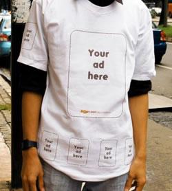 La publicidad en camisetas. Anuncios creativos y eficaces.