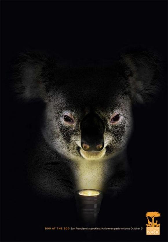 Publicidad de Halloween para el zoo de San Francisco - Koala