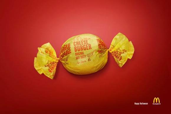 Publicidad gráfica de McDonalds para Halloween - Caramelo