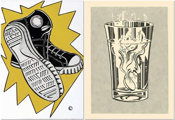 """Obras """"Keds"""" (1961) y """"Alka Seltzer"""" (1966) - Roy Lichtenstein"""
